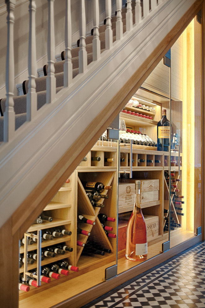 Under Stair Wine Wall With Humidity