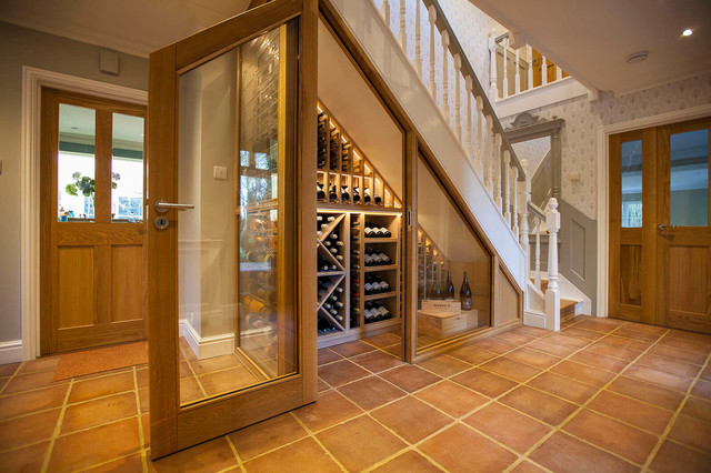 Under The Stairs Custom Wine Cellar Traditional
