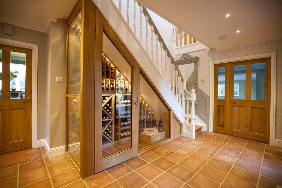 Under The Stairs Custom Wine Cellar Wine Cellar Essex By Sorrells Custom Wine Cellars