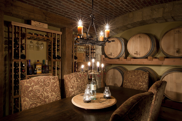 Urban Courtyard House wine room traditional-wine-cellar