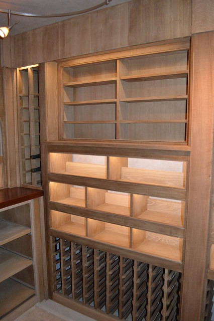 View of Lighted Display Box and Large Format Display Cabinet - Quarter Sawn  Oak traditional- - View Of Lighted Display Box And Large Format Display Cabinet