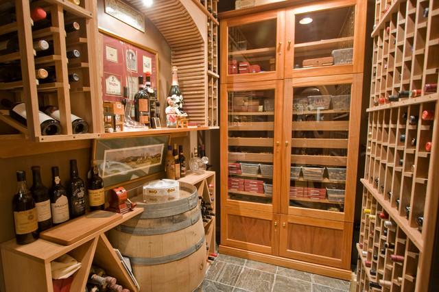 Vigne Cigar & Wine Cellar - Mediterranean - Wine Cellar - little rock ...