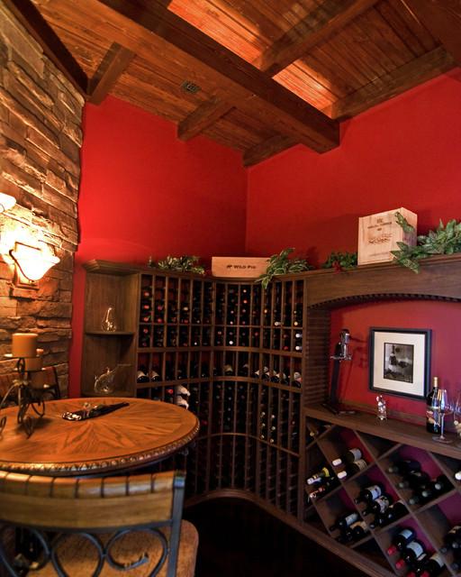 Villa Toscana eclectic-wine-cellar