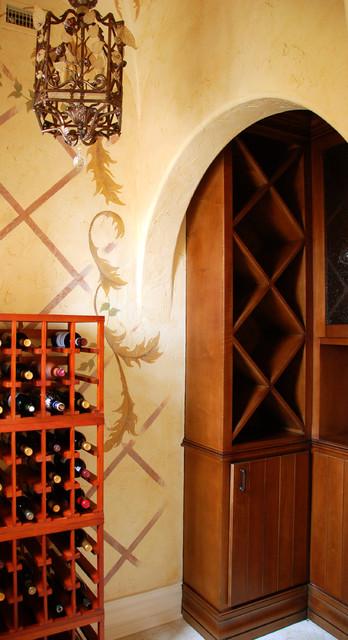 Villa Verona mediterranean-wine-cellar