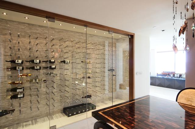 Vin de Garde Custom Modern Wine Cellar (Nek Rite Series, Glass) - Modern - Wine Cellar ...