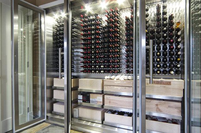 Vin de Garde Custom Stainless Steel Wine Cabinet