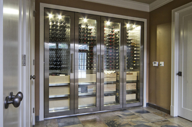 Vin De Garde Custom Stainless Steel Wine Cabinet Modern Cellar Vancouver By