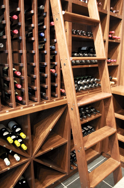 Vin de Garde Custom Traditional, Modular California Series Wine Cellar traditional-wine-cellar