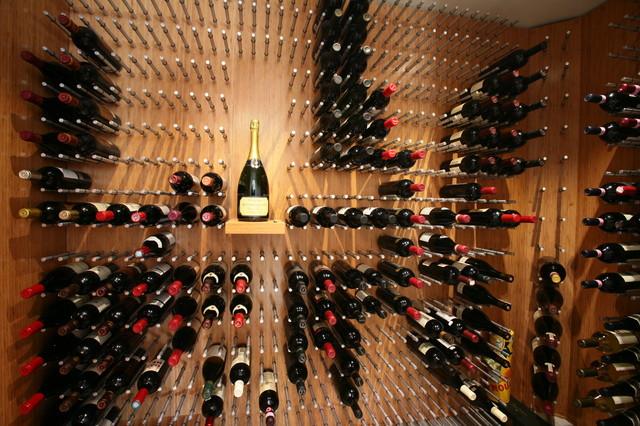 Vin de Garde Custom Wine Wall Series (Bamboo) contemporary-wine-cellar