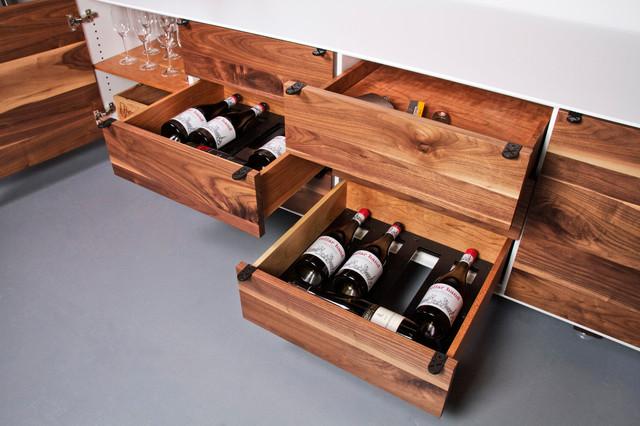 vin de garde modern wine cellars inc jeff martin joinery custom credenza modern. Black Bedroom Furniture Sets. Home Design Ideas