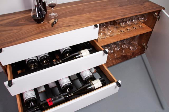 vin de garde modern wine cellars inc jeff martin joinery custom credenza moderne. Black Bedroom Furniture Sets. Home Design Ideas