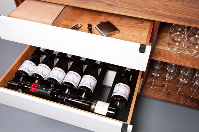 vin de garde modern wine cellars inc jeff martin joinery custom credenza contemporary. Black Bedroom Furniture Sets. Home Design Ideas