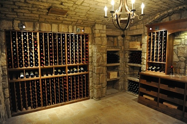 Vintage Cellars Memphis Project with Wine Guardian cooling farmhouse-wine-cellar