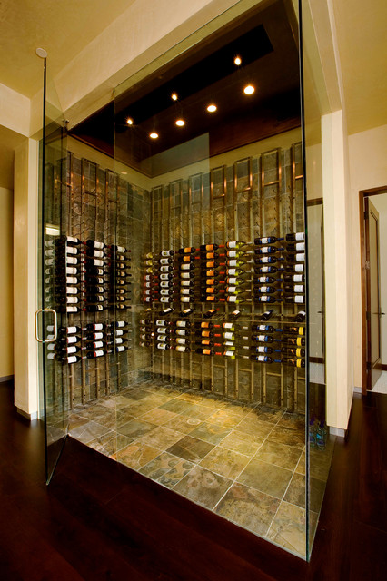 Vintage View Metal - Contemporary - Wine Cellar - other ...
