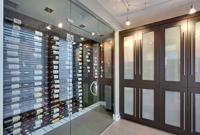 Vintage View Wine Racking - Modern - Wine Cellar - other metro - by Blue Grouse Wine Cellars