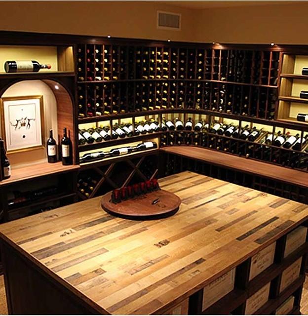 Vintage Wine Barrel Tabletop Wine Cellar Cincinnati
