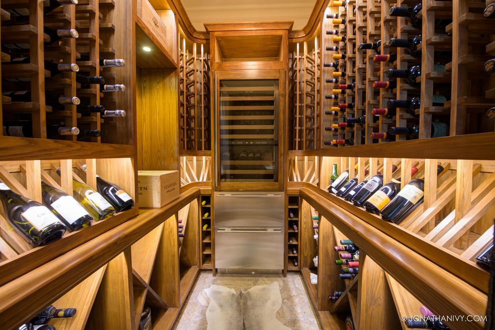 Houston Home Wine Cellar Under the Stairs |Wine Cellar Houston