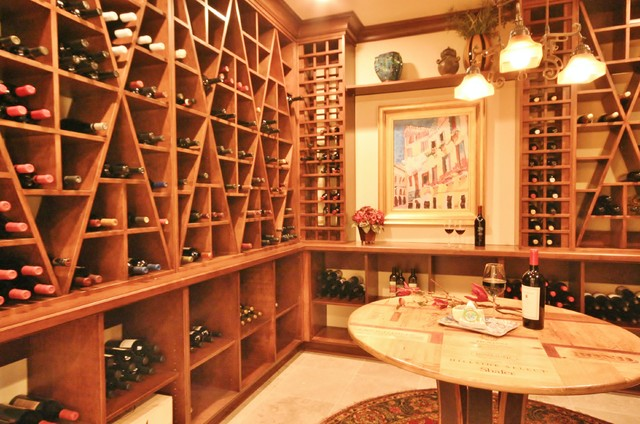 Walk In Wine Room Traditional Wine Cellar Charlotte