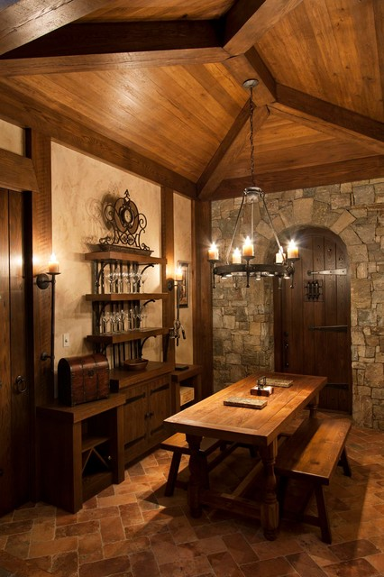 Walnut Cove Chateau Rustic Wine Cellar Other Metro By Morgan Keefe Bu