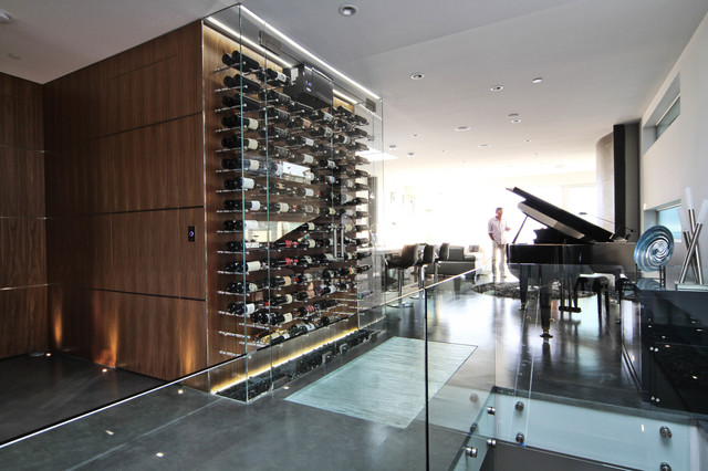 Wave House Wine Cellar Modern Wine Cellar Vancouver by