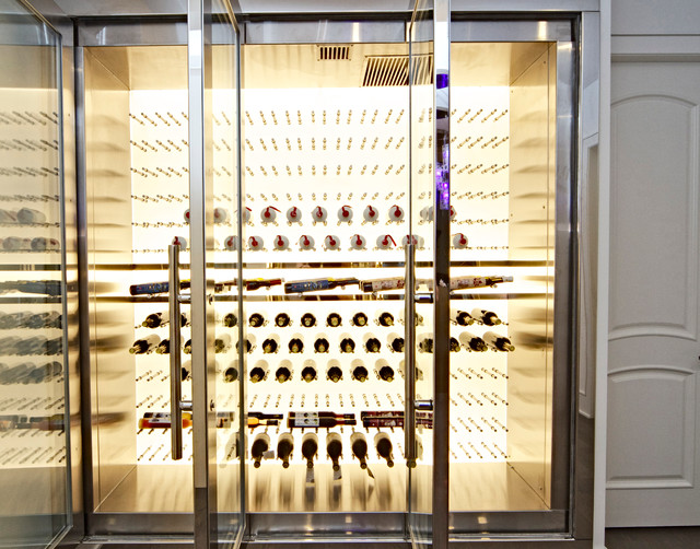 Fantastic West 19Th Backlit Led Stainless Steel Custom Wine Fridge Interior Design Ideas Tzicisoteloinfo