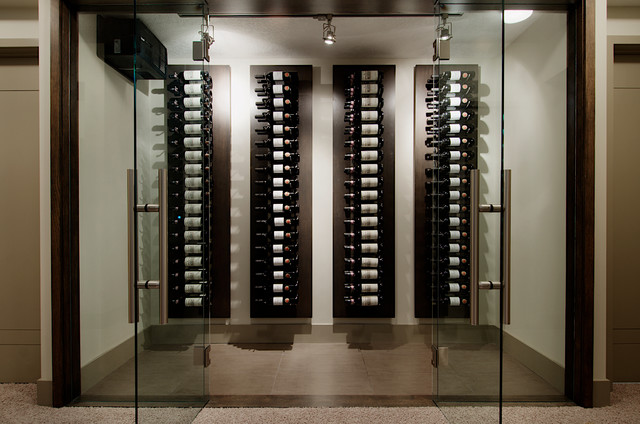 West coast modern home Home wine cellar design