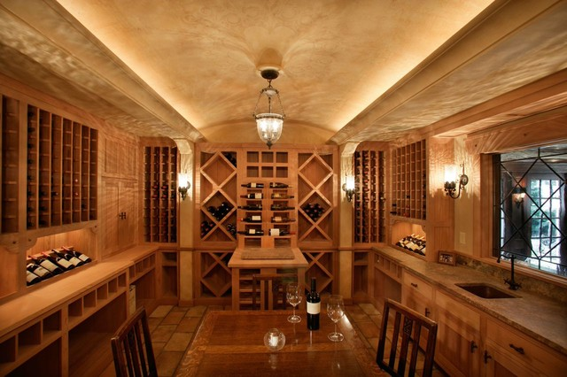 White Oaks Renovation traditional-wine-cellar
