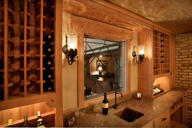 White Oaks Renovation traditional-wine-cellar