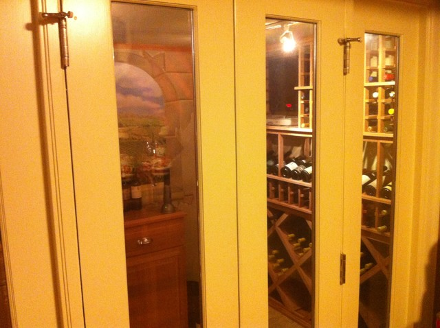 whole home renovation traditional-wine-cellar
