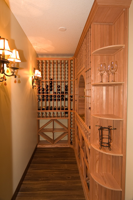 Wiens Basement traditional-wine-cellar