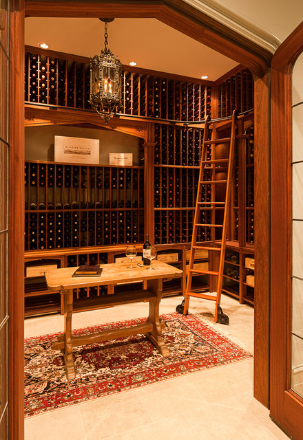 William T Baker Houses traditional-wine-cellar