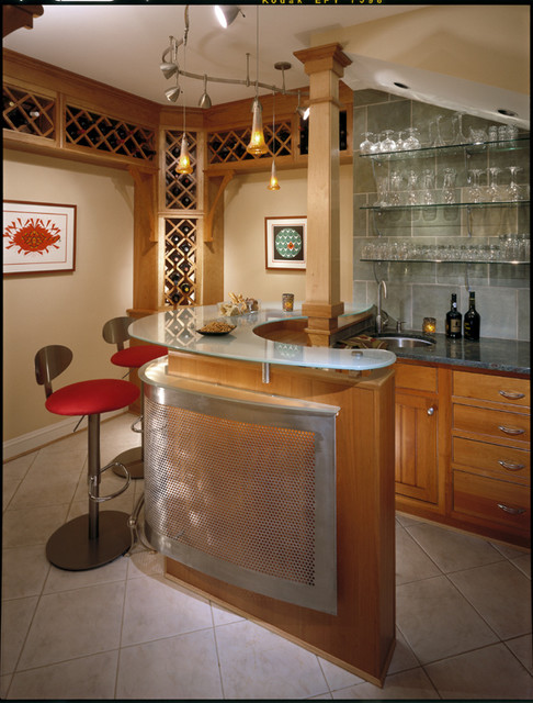 Wine bar contemporary wine cellar other by fisher for Modern wine bar design