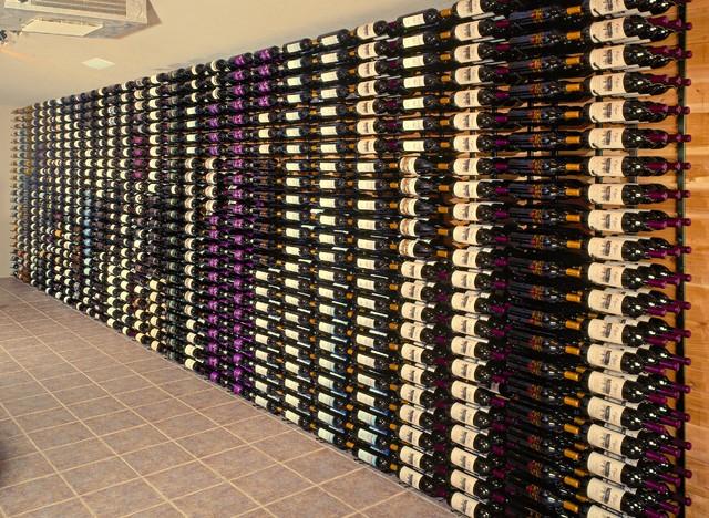 Wine Bottle Storage - Contemporary - Wine Cellar - las vegas - by Superior Moulding of Nevada