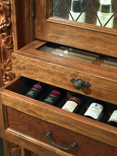 Wine Cabinet Detail eclectic-wine-cellar