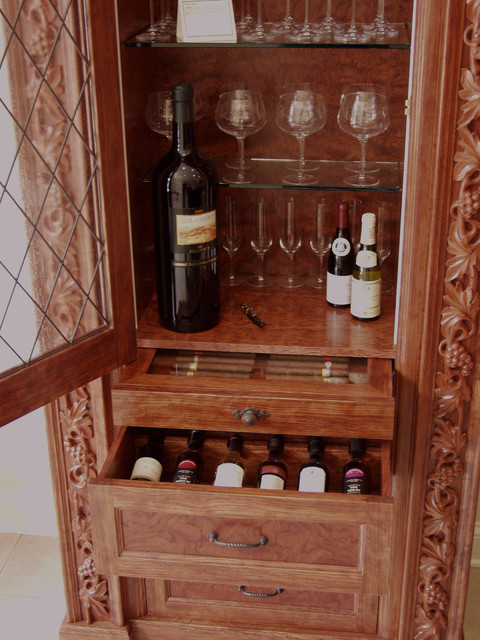 Wine Cabinet w Humidor - Eclectic - Wine Cellar - other metro - by Benvenuti and Stein