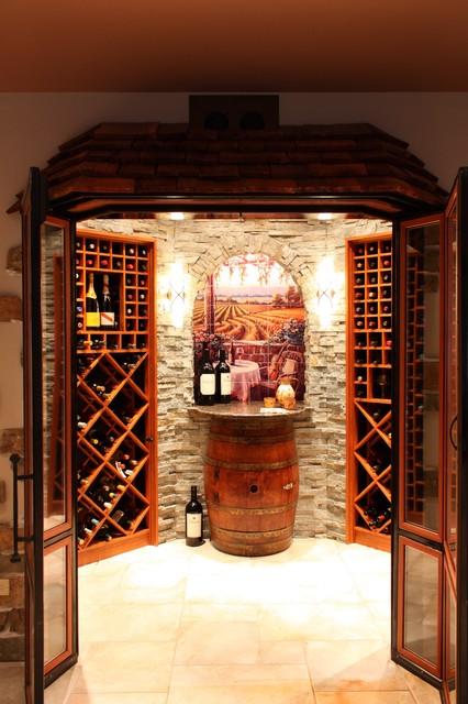 Wine Cellar Art On Tile Mural mediterranean-wine-cellar