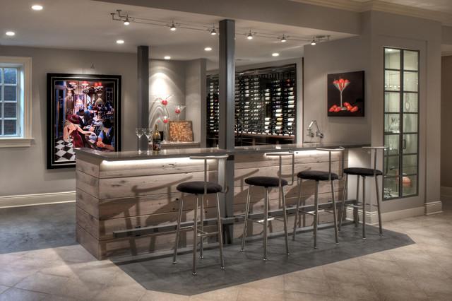 Wine cellar bar for Modern wine bar design