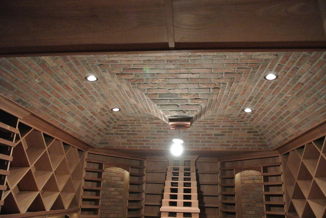 Wine Cellar Ceiling Finishes Traditional Wine Cellar