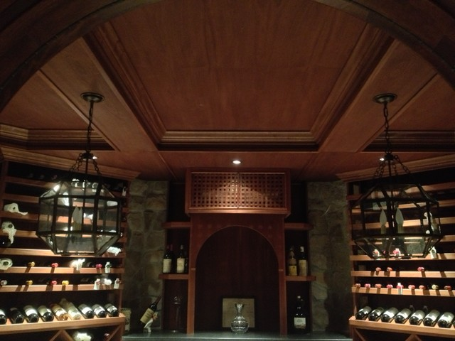 Wine Cellar Ceiling Finishes traditional-wine-cellar