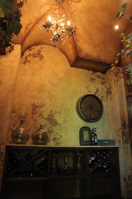 Wine Cellar  Mediterranean  Wine Cellar  kansas city  by Creative Faux Effects