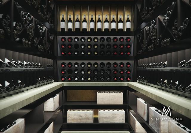 Photo Of A Modern Wine Cellar In London.
