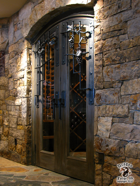 Wine Cellar Door Grill And Hardware Contemporary Wine