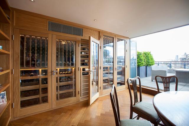 Wine Cellar European Oak - London traditional-wine-cellar & Wine Cellar European Oak - London - Traditional - Wine Cellar ...