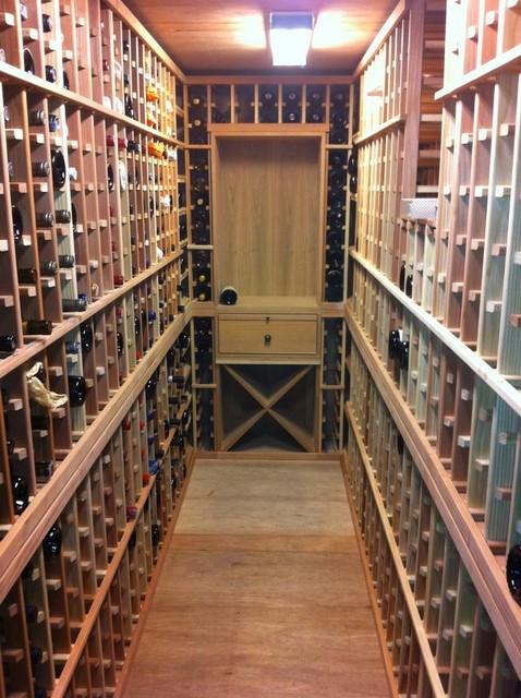Wine Cellar Flooring and Countertops contemporary-wine-cellar