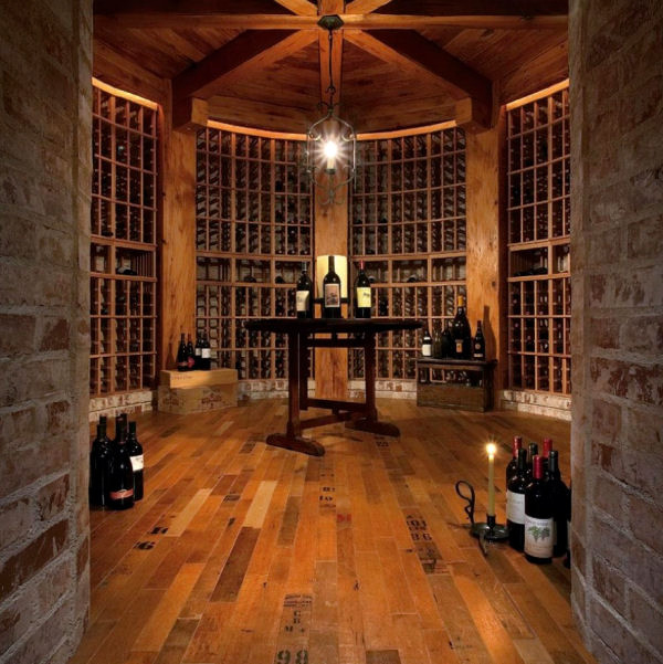 Wine cellar flooring and countertops modern wine for Wine cellar in floor