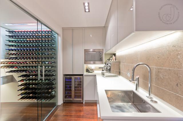 Wine Cellar Kitchen Contemporary Wine Cellar