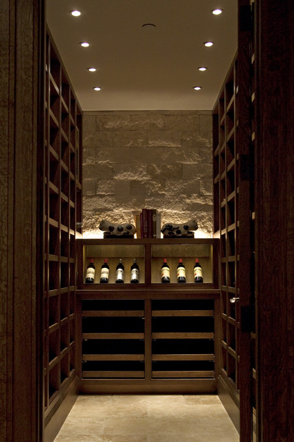 Wine Cellar Lighting traditional-wine-cellar