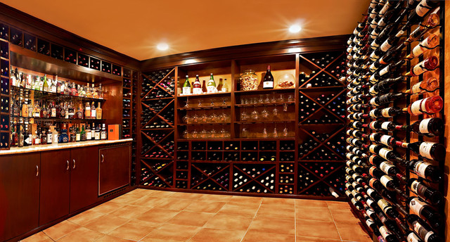 Wine cellar contemporary wine cellar