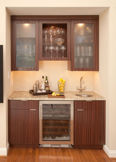 Wet Bar with Sub Zero Wine Storage Cooler - Wine Cellar - Philadelphia - by Mrs. G TV & Appliances