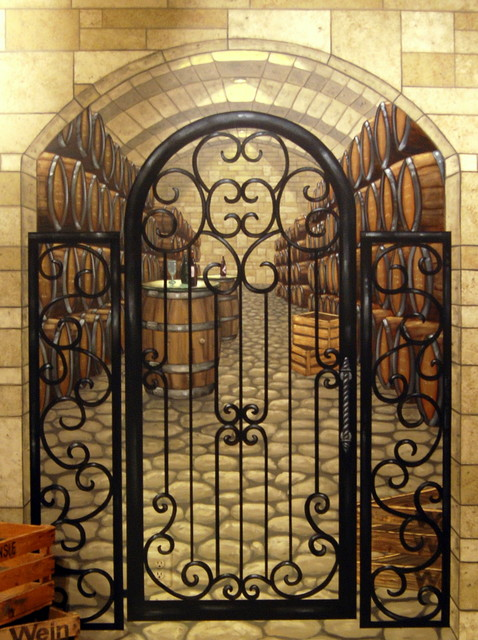 Wine Cellar Mural By Tom Taylor Of Wow Effects In